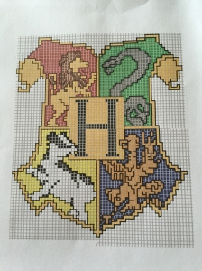 Hogwarts Crest Cross Stitch Pattern!