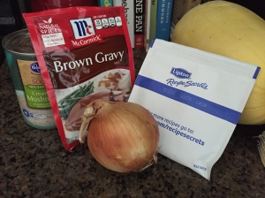 Ingredients for my Brown Gravy Venison Stew